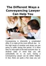 the different ways a conveyanci n g law y er can help you