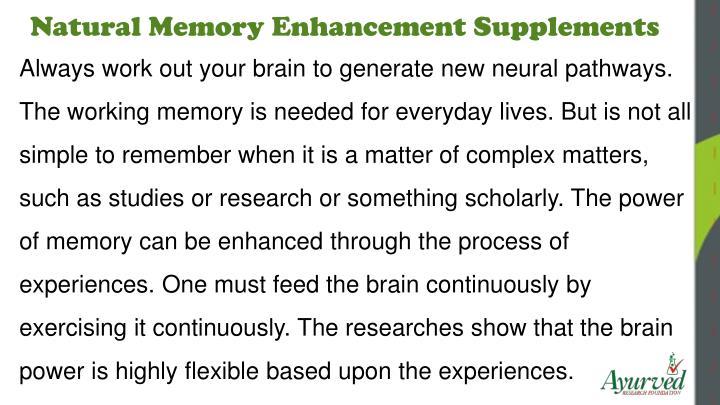 Natural Memory Enhancement Supplements