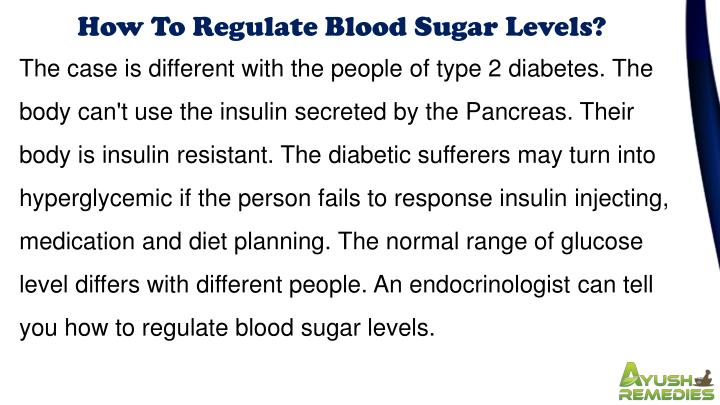 How To Regulate Blood Sugar Levels?