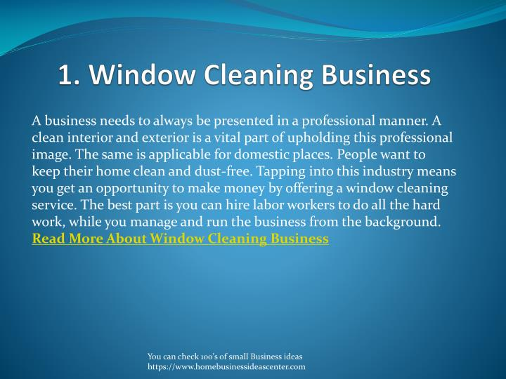 1. Window Cleaning Business