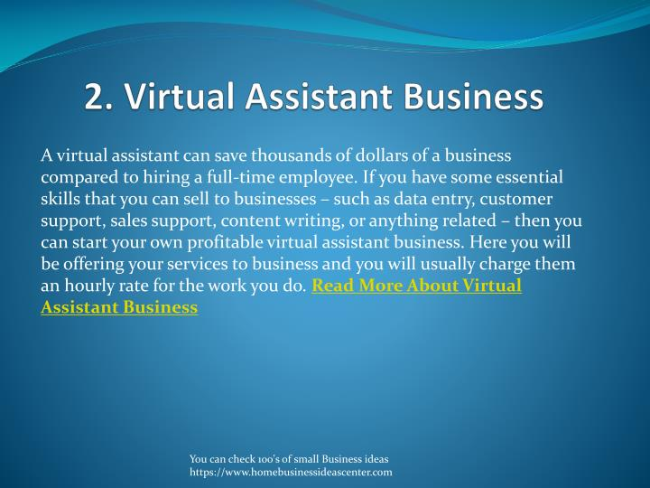 2. Virtual Assistant Business