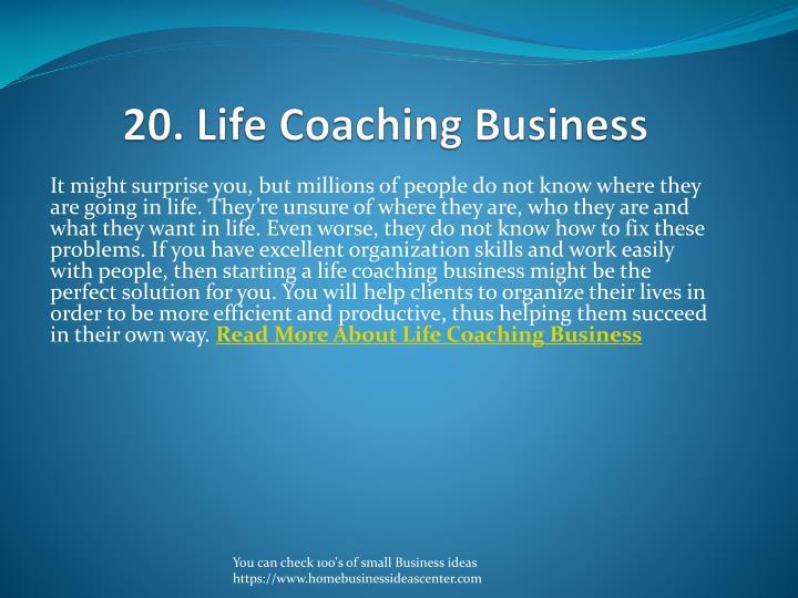 20. Life Coaching Business