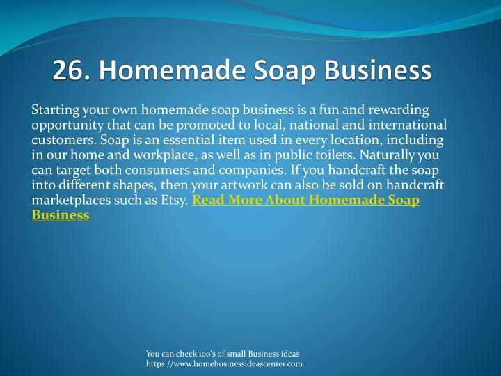 26. Homemade Soap Business