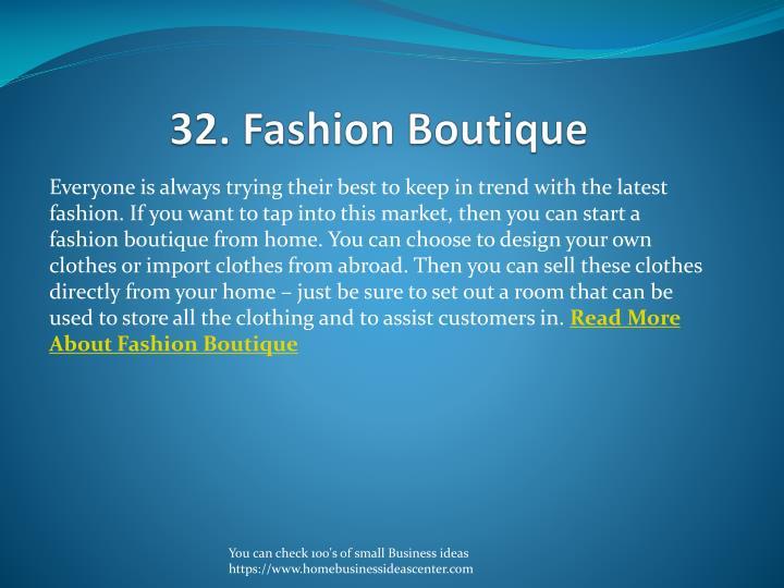 32. Fashion Boutique