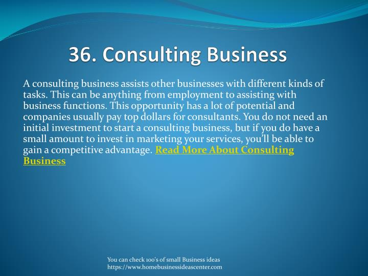 36. Consulting Business