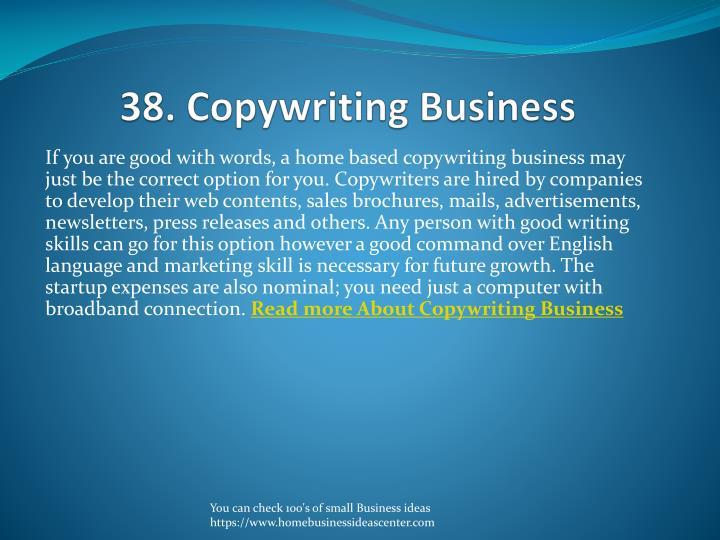 38. Copywriting Business