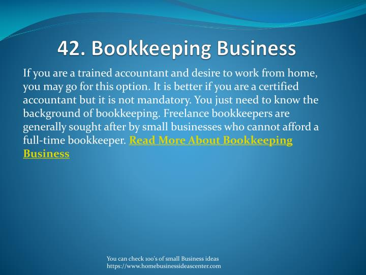 42. Bookkeeping Business