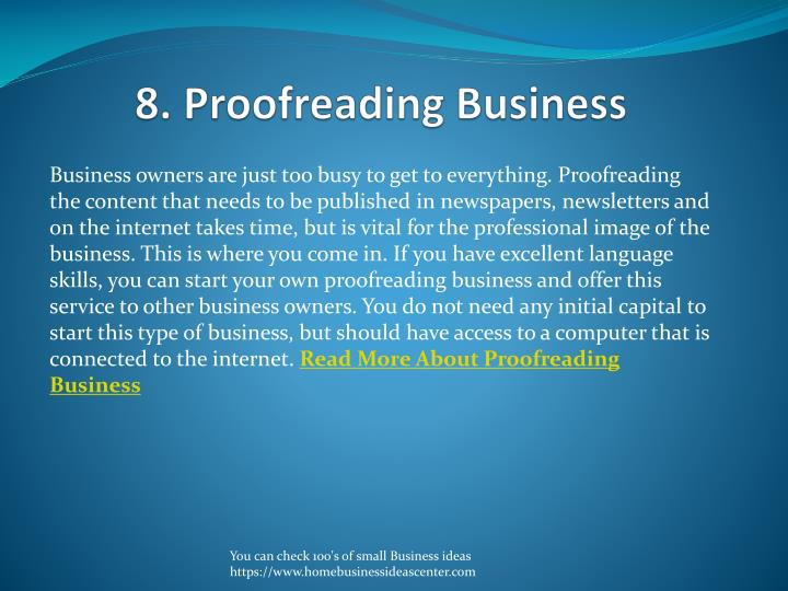 8. Proofreading Business