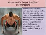 information for people that want b uy t renbolone