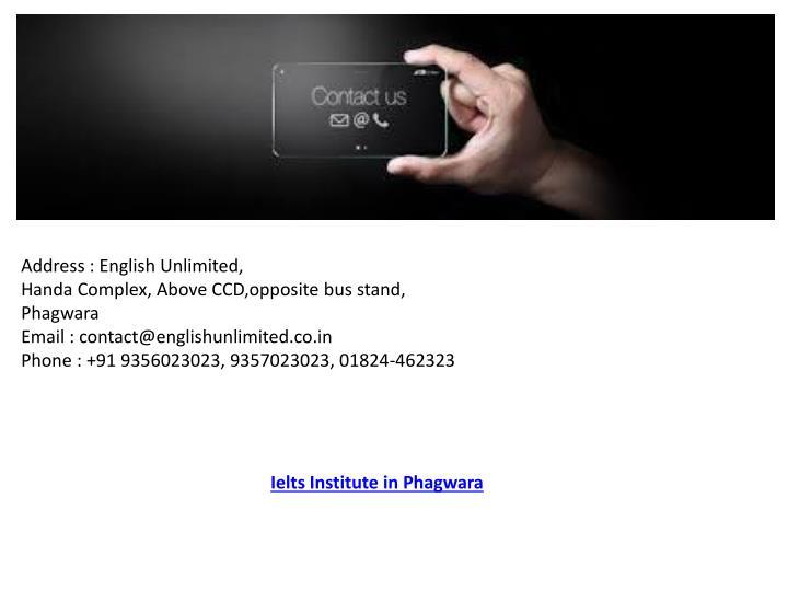 Address : English Unlimited,