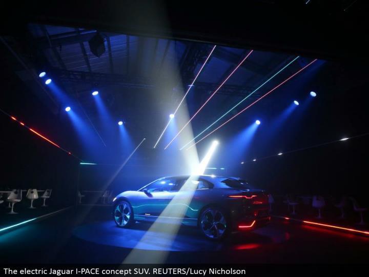 The electric Jaguar I-PACE idea SUV. REUTERS/Lucy Nicholson