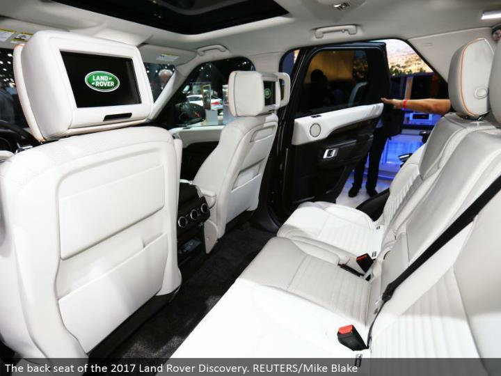 The rearward sitting arrangement of the 2017 Land Rover Discovery. REUTERS/Mike Blake