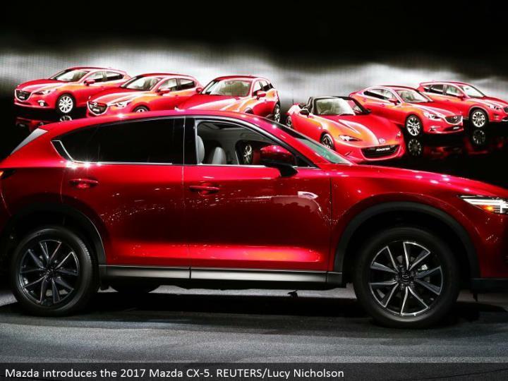 Mazda presents the 2017 Mazda CX-5. REUTERS/Lucy Nicholson