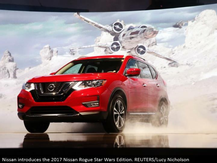 Nissan presents the 2017 Nissan Rogue Star Wars Edition. REUTERS/Lucy Nicholson