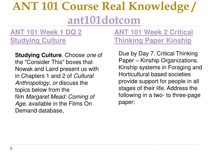 Ant 101 course real knowledge ant101dotcom2