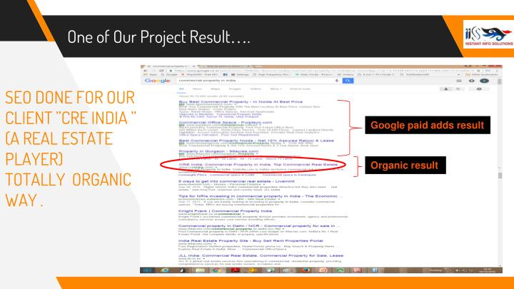 One of Our Project Result….