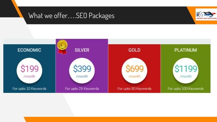 What we offer….SEO Packages