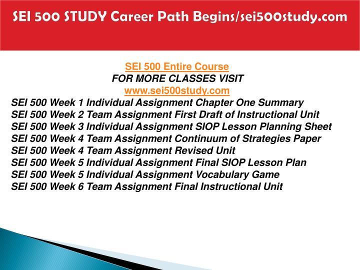 Sei 500 study career path begins sei500study com1