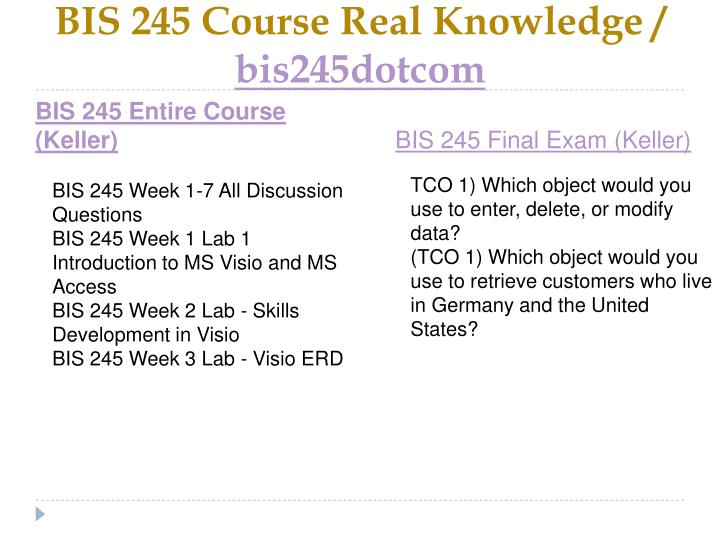 Bis 245 course real knowledge bis245dotcom1