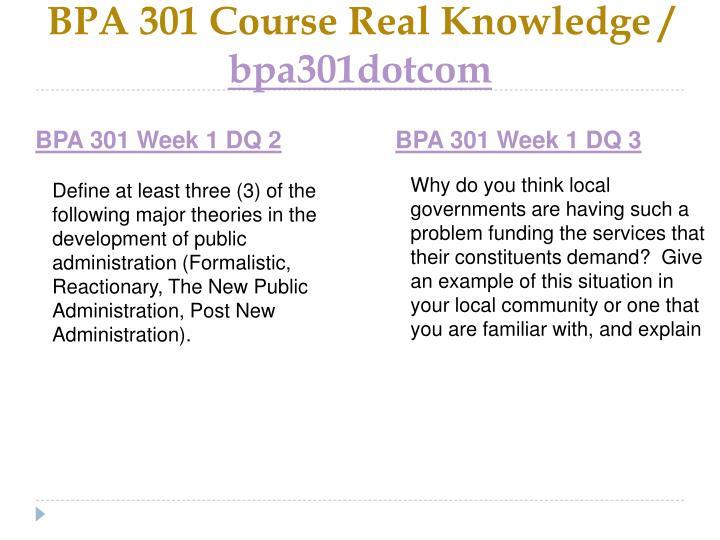 Bpa 301 course real knowledge bpa301dotcom2