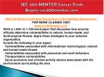 sec 400 mentor career path begins sec400mentor com3
