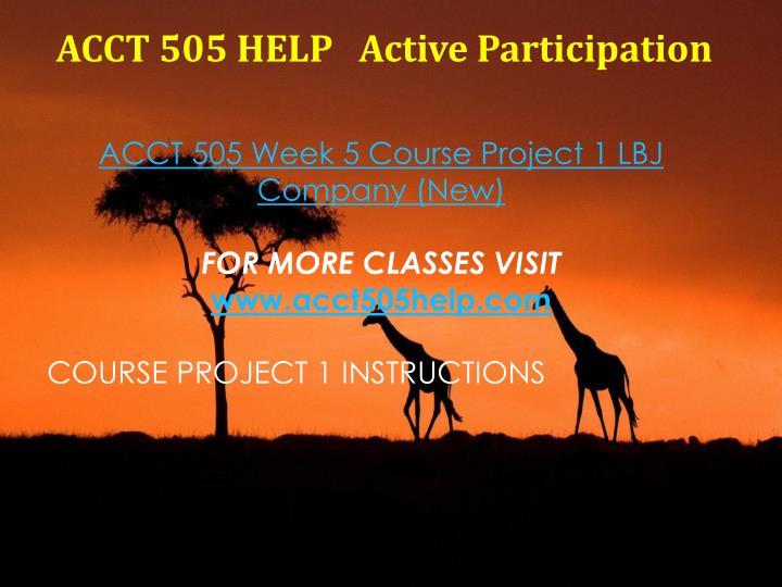 ACCT 505 HELP