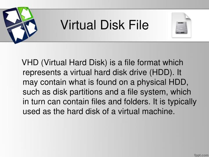 Virtual disk file