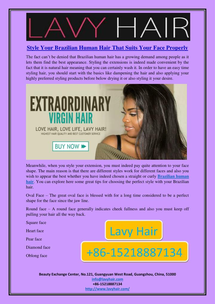 Style Your Brazilian Human Hair That Suits Your Face Properly