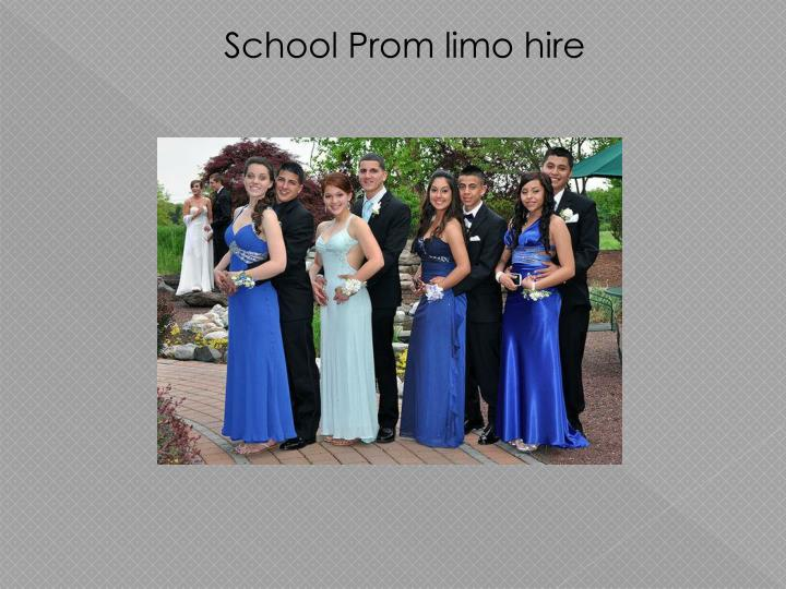 School Prom limo hire