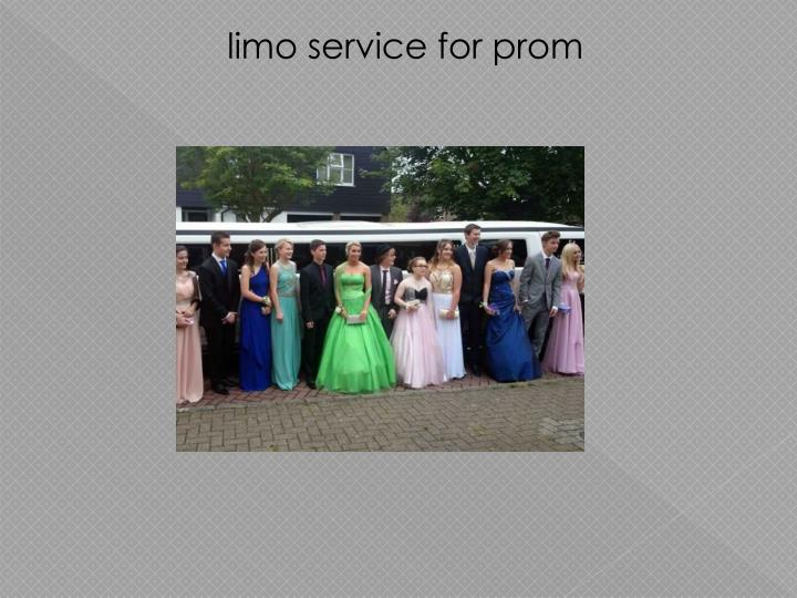 limo service for prom