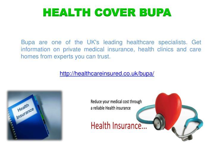HEALTH COVER BUPA