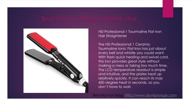 Best Flat Iron Picks for Sleek Hair