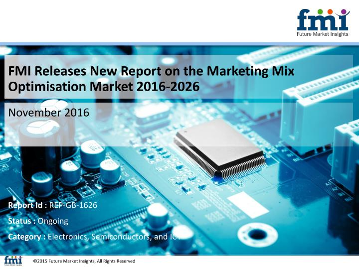 FMI Releases New Report on the Marketing Mix