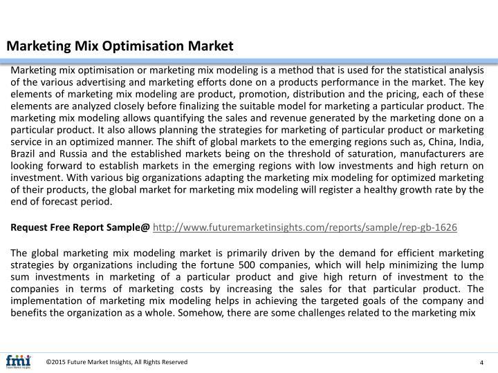 Marketing Mix Optimisation Market