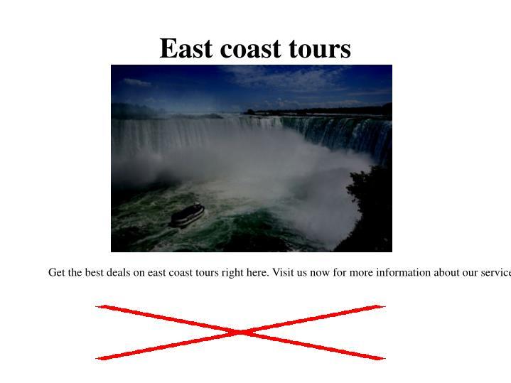 East coast tours