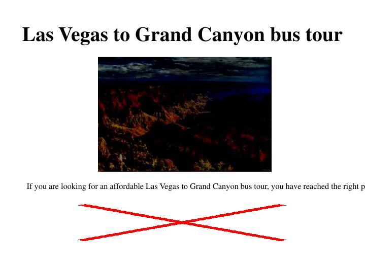 Las Vegas to Grand Canyon bus tou