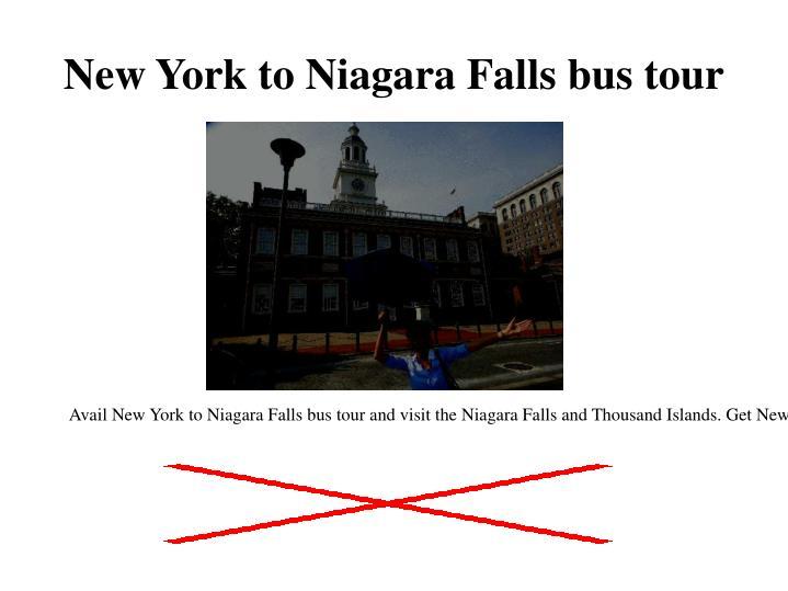 New york to niagara falls bus tour