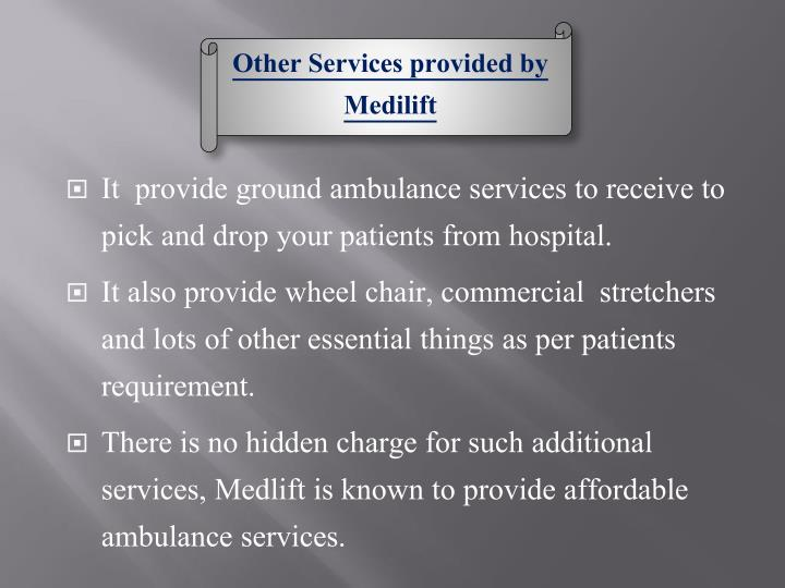 Other Services provided by