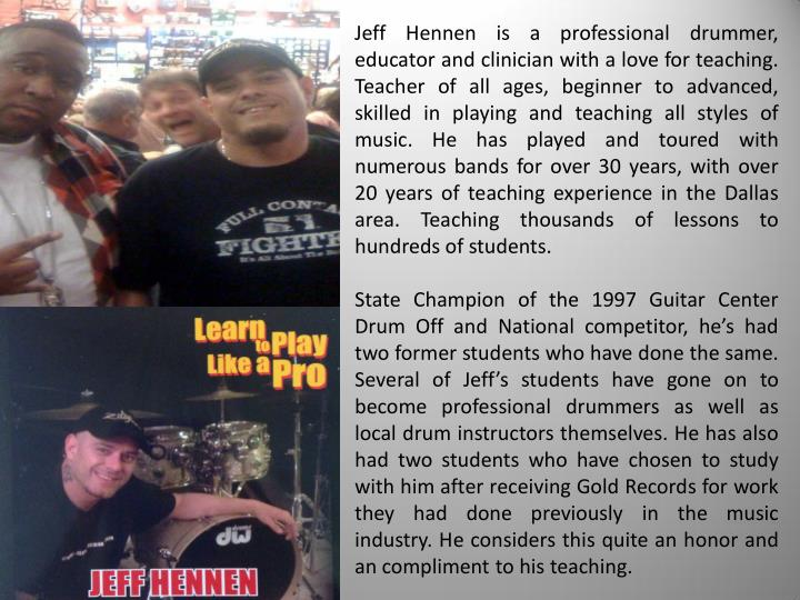 Jeff Hennen is a professional