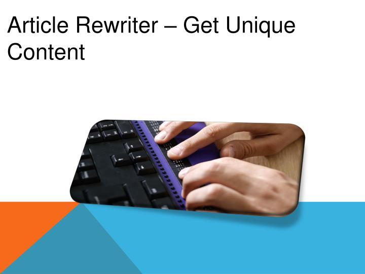 Article Rewriter –