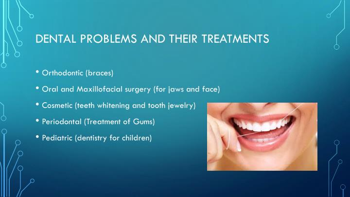 Dental problems and their treatments
