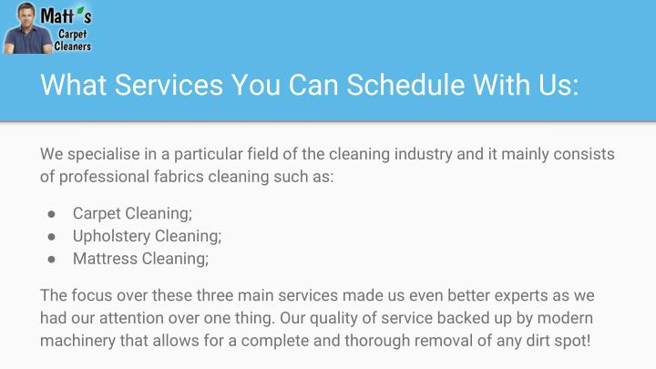 What Services You Can Schedule With Us: