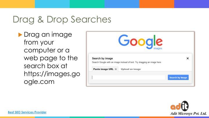Drag & Drop Searches