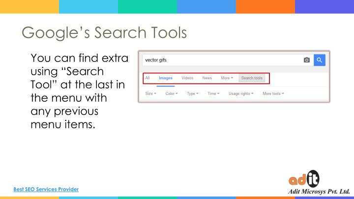 Google's Search Tools