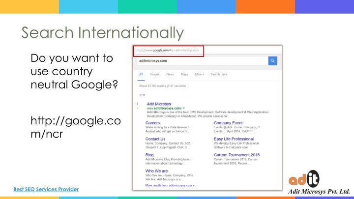 Search Internationally