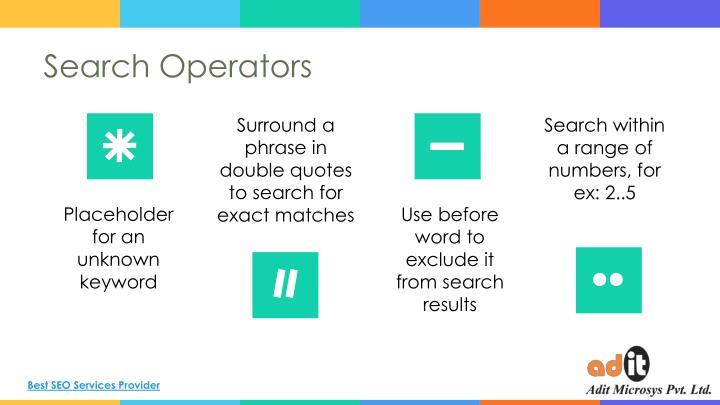 Search Operators