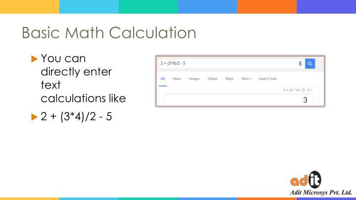 Basic Math Calculation
