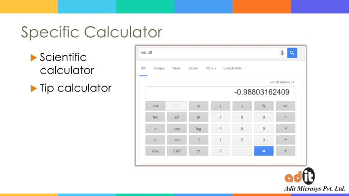 Specific Calculator