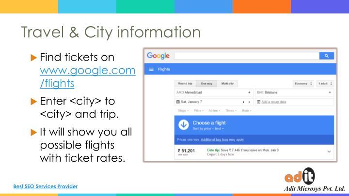 Travel & City information