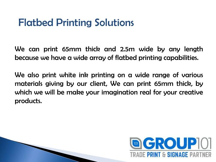 Flatbed Printing Solutions